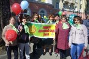 Наше дошкольное учреждение приняло участие в праздничной колонне посвященное 1 Маю!